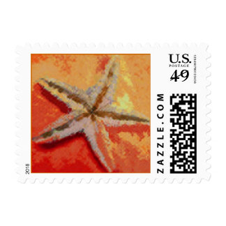 Rust/Orange Starfish Postage