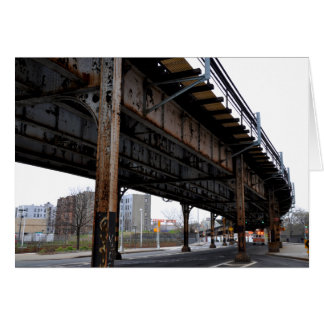 Rust Overpass Support Card Greeting Card