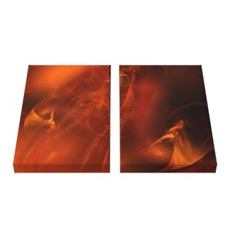 Rust Realm Fractal Art Gallery Wrapped Canvas