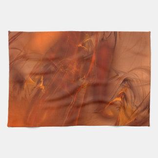 Rust Realm Fractal Hand Towel