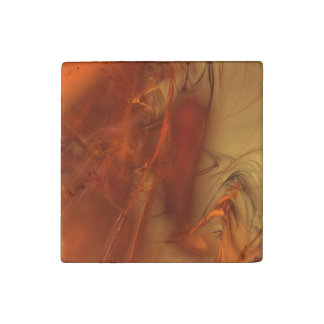 Rust Realm Fractal Stone Magnet