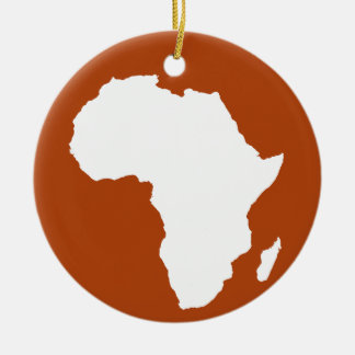 Rust Red Audacious Africa Ceramic Ornament
