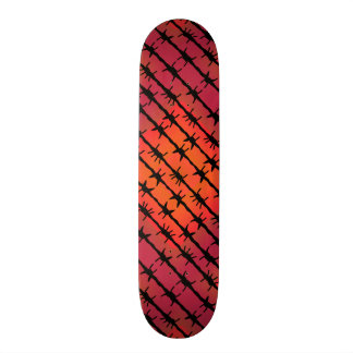 Rust Red Barbed Wire Barb Fencing Orange Skateboard Deck