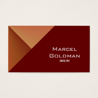 Rust red diagonal city business card
