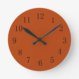 Rust Red Earth Tone Kitchen Wall Clock