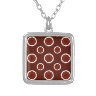 Rust Red Eclipses Silver Plated Necklace