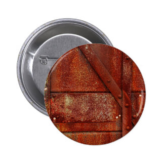Rust Red Industrial Rivets Pinback Button