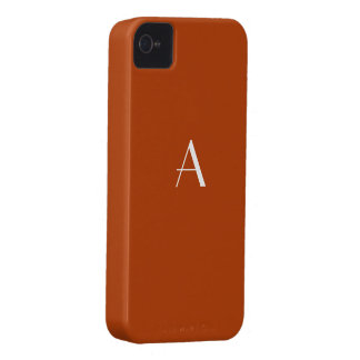 Rust Red iPhone4 Monogram Case iPhone 4 Covers