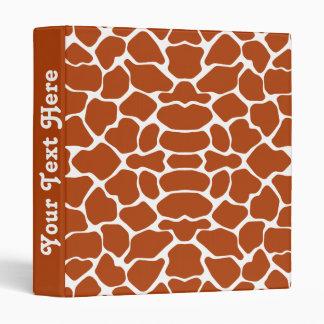 Rust Red Safari Giraffe with text Binder