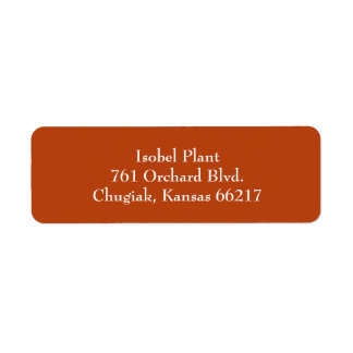 Rust Red Simple Plain Return Address Labels