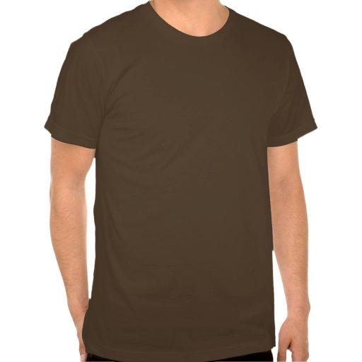 Rust round grid tee shirt