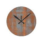 Rust Round Wall Clocks