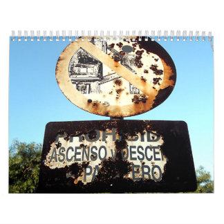 Rust & Rusty Wall Calendar