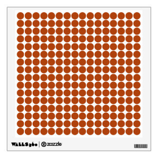 Rust Safari Dot Wall Stickers