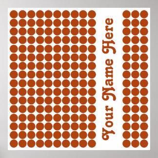 Rust Safari Dot with name Poster