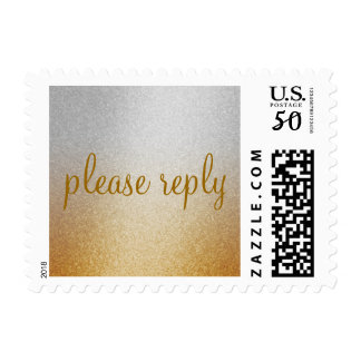 Rust Shimmer Gradient Silver Postage Stamp