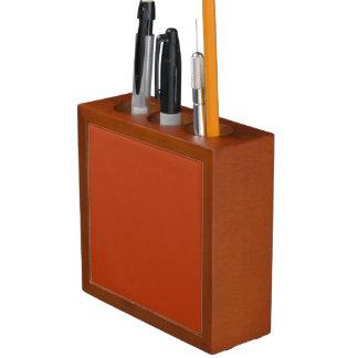 RUST (solid reddish brownish color) ~ Desk Organizer