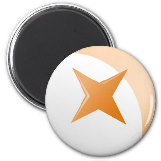 Rust Star 2 Inch Round Magnet