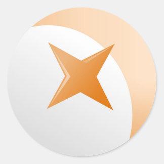 Rust Star Classic Round Sticker