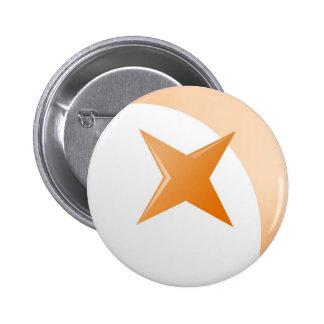 Rust Star Pinback Button