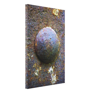 Rust Steel Rivet Industrial Distressed canvas Gallery Wrapped Canvas