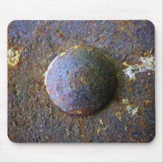 Rust Steel Rivet Industrial Distressed Mouse Pad