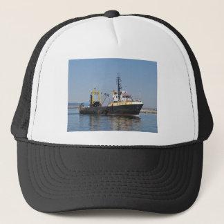 Rust Streaked Fishing Boat Trucker Hat
