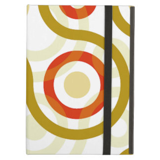 Rust Tan And White Swirls iPad Case with Kickstand