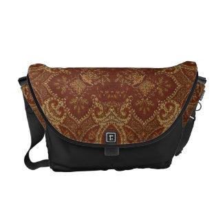 Rust Tapestry Messenger Bag