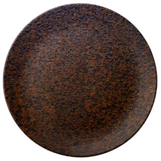 Rust Texture Base Layer Customizable Dinner Plate