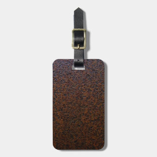 Rust Texture Base Layer Customizable Luggage Tag