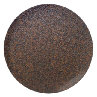 Rust Texture Base Layer Customizable Melamine Plate