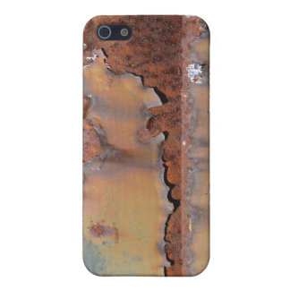 Rust texture (brown flaky rusted iron) even pitted cover for iPhone 5