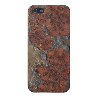 Rust texture (brown flaky rusted iron) even pitted iPhone 5 cases