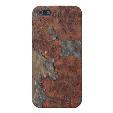Rust Texture (brown Flaky Rusted Iron) Even Pitted Iphone Se/5/5s Cover at Zazzle