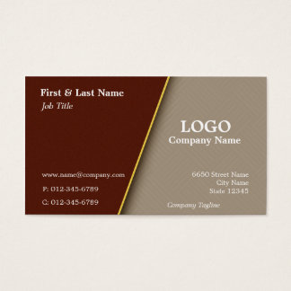 Rust Triangles and Copper Business Card Design
