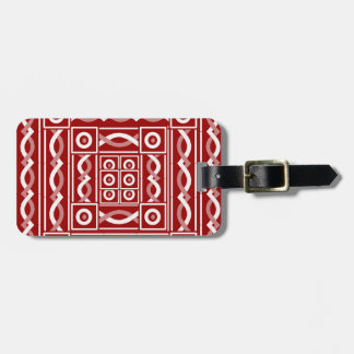 Rust Tribal Scribe Tags For Bags