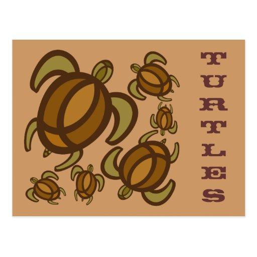 Rust Turtles Postcard