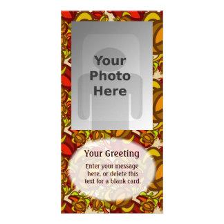 Rust Turtles Vertical PhotoCard Template Custom Photo Card