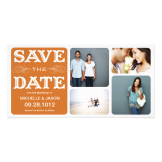 RUST VINTAGE COLLAGE | SAVE THE DATE ANNOUNCEMENT