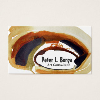 Rust Watercolor Abstract Brushstroke Art Manager Business Card