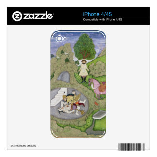 Rustam killing the White Demon, illustration from Decals For The iPhone 4