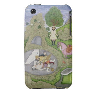 Rustam killing the White Demon, illustration from iPhone 3 Covers