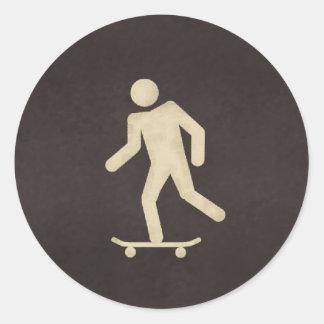 rustboard2 classic round sticker