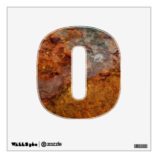 Rusted 0 wall decal