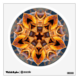 Rusted Anchor Mandala Wall Stickers