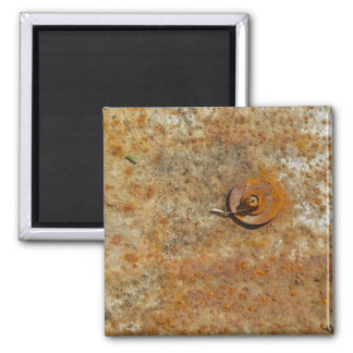 Rusted Art 2 Inch Square Magnet