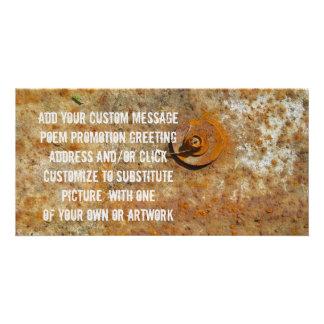 Rusted Art Customized Photo Card