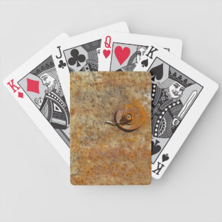 Rusted Art Bicycle Playing Cards