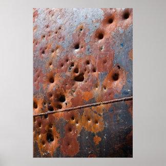 Rusted Black Metal Grandeur, With Seam Poster